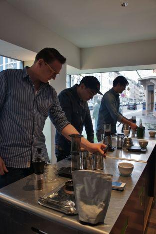 Micha Schranz, Kevin Boenzli and Kai Keong Ng