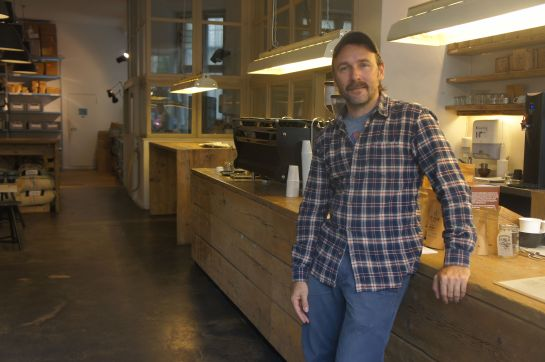 Ralf Rueller, owner of The Barn Coffee Roasters at the Roastery where we had our talk